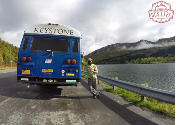 Big Blue - Old Ski Resort Shuttle Bus Conversion Turned Tiny Home