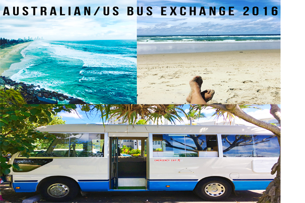 Australian and USA Bus Exchange with Beats Bus