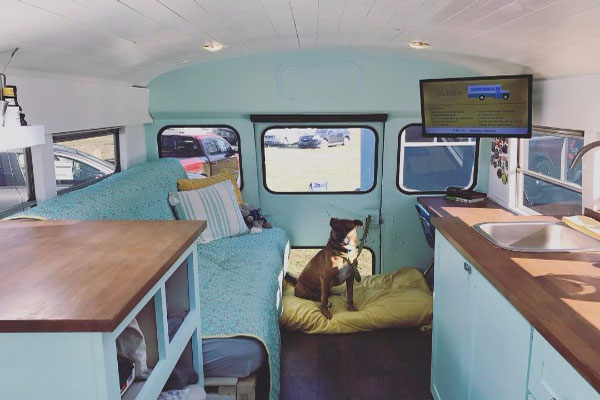 VIDEO 88 Chevy School Bus Conversion By Atlanta Couple