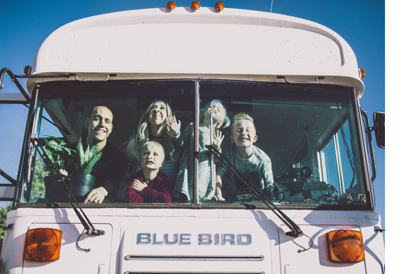 Family of Five - 1999 Blue Bird Bus Conversion