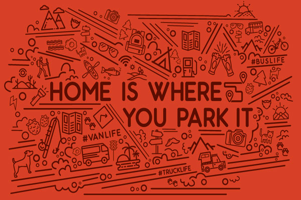 Home Is Where You Park It - Men & Women's T-Shirt