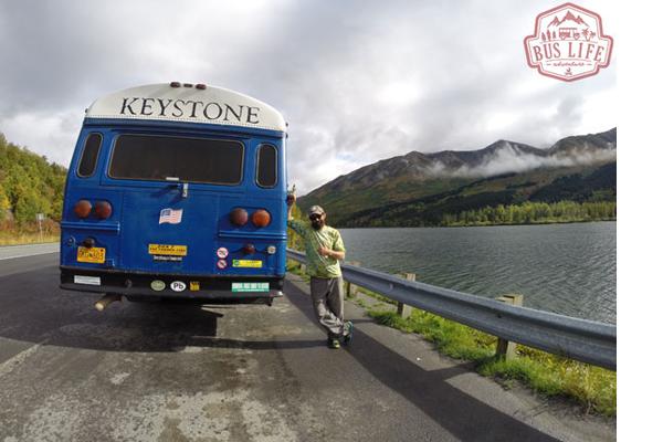 Big Blue - Old Ski Resort Shuttle Bus Conversion Turned Tiny