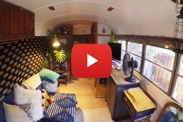 VIDEO - 1974 School Bus Conversion Turned Into Art Studio