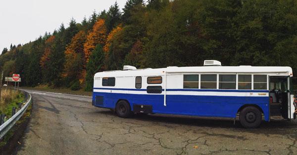 family of five 1999 blue bird bus conversion