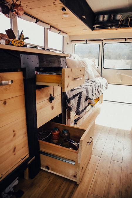 Hippy Chic Short School Bus Conversion By Heidi Michele