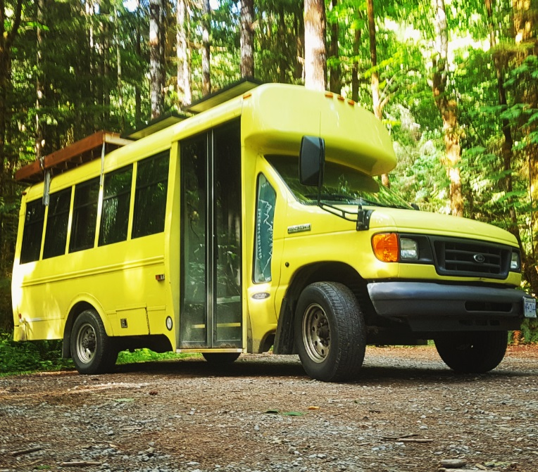 Determined Life Skoolie Short bus diy home