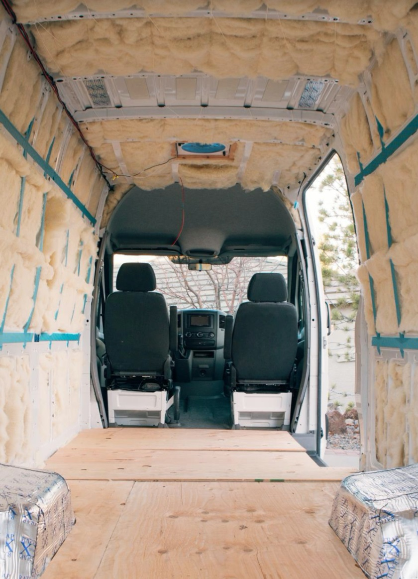 Havelock Wool insulation van interior