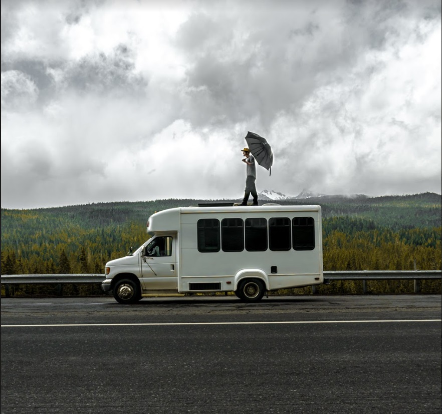 Nomad Brad Umbrella Shuttle Bus conversion