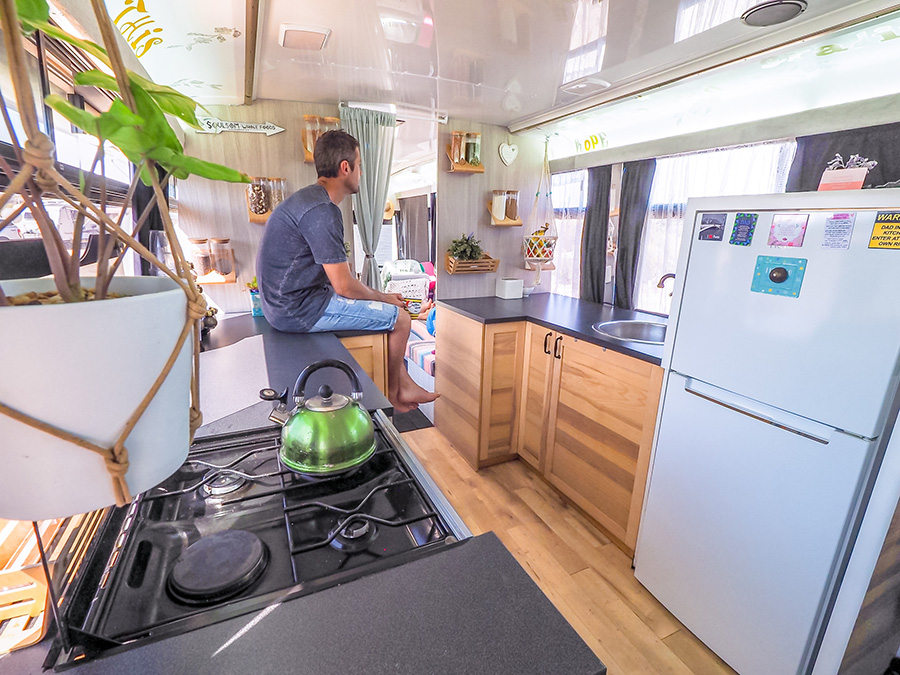 soulsom bus life husband kitchen wondering planning