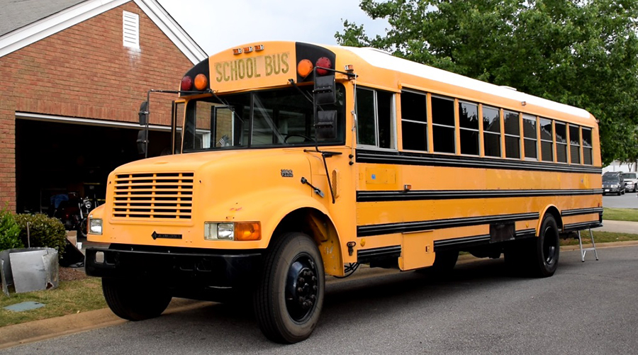 blank canvas school bus home owner association