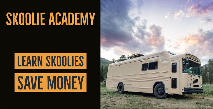 Skoolie academy transcend learn educate research bus