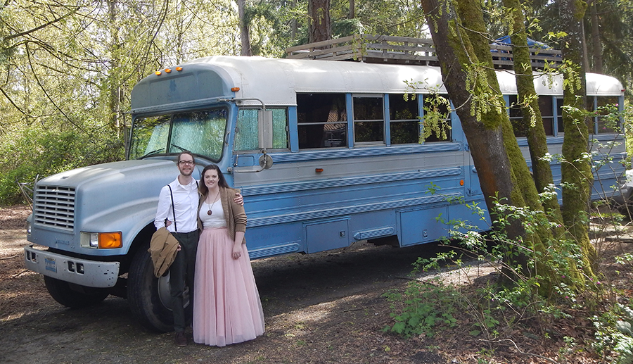 skoolielove mary bus conversion pacific northwest